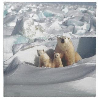 Servilleta De Tela Añada el LEMA para ahorrar el hielo ártico del