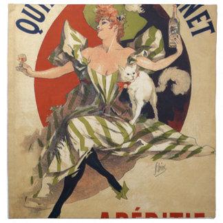 Servilleta De Tela Anuncio del francés del vintage