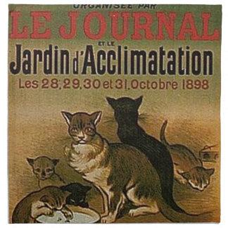 Servilleta De Tela Anuncio francés del vintage - gatos