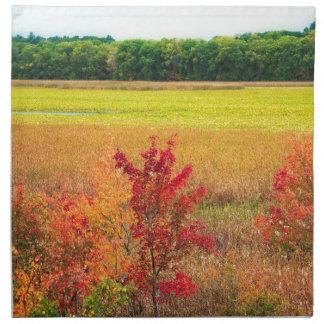 Servilleta De Tela Árboles del otoño en los grandes prados