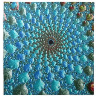 Servilleta De Tela Arte del fractal del arco iris