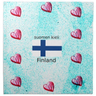 Servilleta De Tela Bandera de Finlandia y diseño finlandés de la