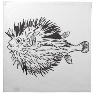 Servilleta De Tela Blowfish del Porcupinefish aka