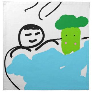 Servilleta De Tela Bróculi lindo en aguas termales