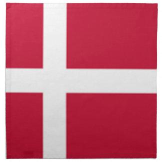 Servilleta De Tela Buena impresión de la bandera de Dinamarca del