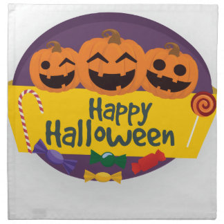 Servilleta De Tela Calabaza del feliz Halloween