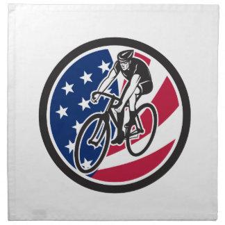Servilleta De Tela Ciclista americano que completa un ciclo el icono