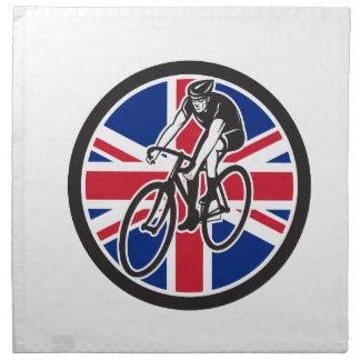 Servilleta De Tela Ciclista británico que completa un ciclo el icono