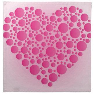 Servilleta De Tela Ciervo rosado de la burbuja