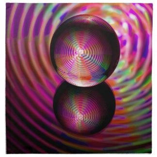 Servilleta De Tela Círculo de rojos en el cristal ball_edited-1