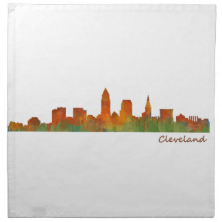 Servilleta De Tela cleveland Ohio USA Skyline city v01