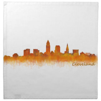 Servilleta De Tela cleveland Ohio USA Skyline city v02