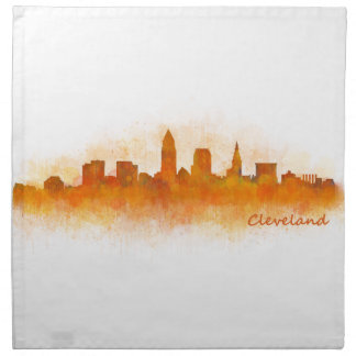 Servilleta De Tela cleveland Ohio USA Skyline city v03