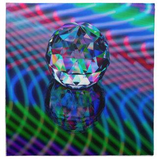 Servilleta De Tela Color de facetas en vidrio