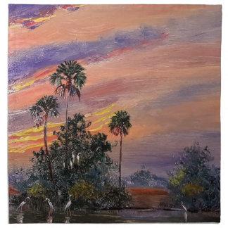 Servilleta De Tela Colores de la puesta del sol de la Florida