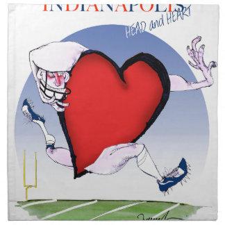 Servilleta De Tela corazón principal de Indianapolis, fernandes tony