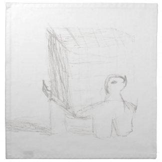 Servilleta De Tela cubo de la tortuga de caja que dibuja Eliana