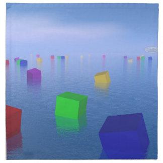 Servilleta De Tela Cubos coloridos que flotan - 3D rinden