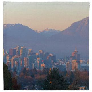 Servilleta De Tela De Vancouver paisaje urbano céntrico A.C. en el