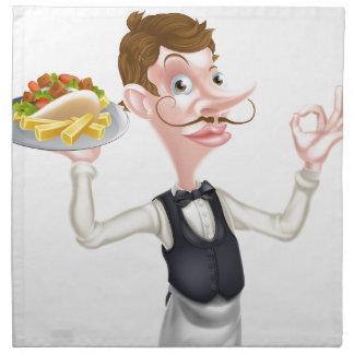Servilleta De Tela Dibujo animado camarero perfecto de Kebab y de los