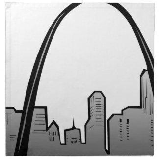 Servilleta De Tela Dibujo del horizonte de St. Louis