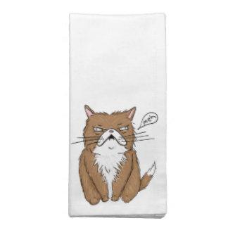 Servilleta De Tela Dibujo gruñón divertido del gato de Meh
