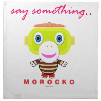 Servilleta De Tela Diga el Mono-Morocko Algo-Lindo