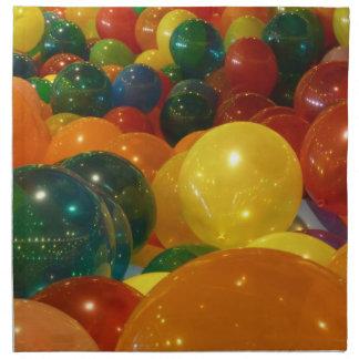 Servilleta De Tela Diseño colorido del fiesta de los globos