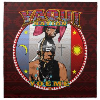 Servilleta De Tela Diseño del bailarín de los ciervos de Yaqui Yoeme