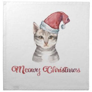 Servilleta De Tela Diseño del navidad de Meowy para los amantes del