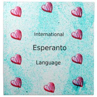 Servilleta De Tela Diseño internacional de la lengua del esperanto