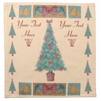 Servilleta De Tela El árbol de navidad con rojo de las decoraciones