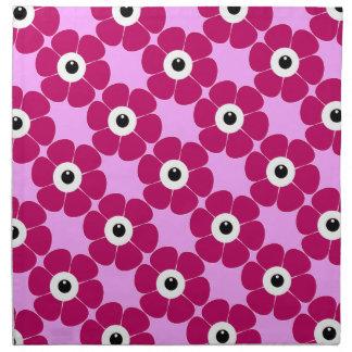 Servilleta De Tela el ojo de la flor rosada
