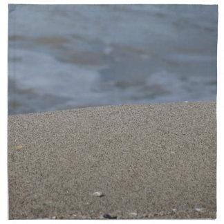 Servilleta De Tela El primer de la playa de la arena con el mar