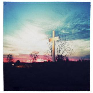 Servilleta De Tela En la cruz
