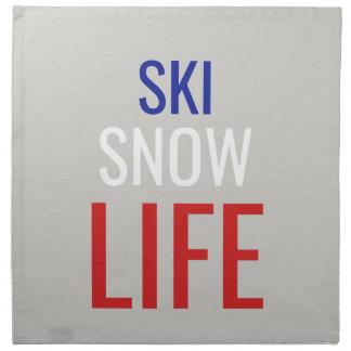 Servilleta De Tela Esquí, nieve, vida