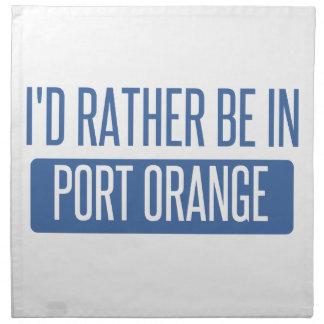 Servilleta De Tela Estaría bastante en naranja del puerto