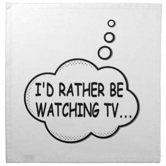 Servilleta De Tela Estaría viendo bastante la TV