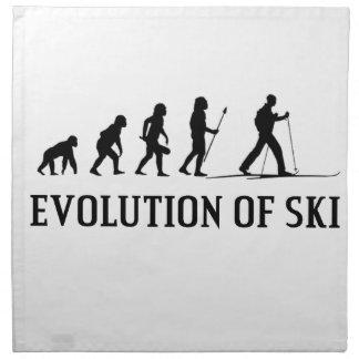 Servilleta De Tela Evolución del esquí