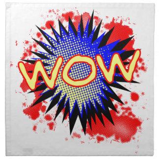 Servilleta De Tela Exclamación cómica del wow