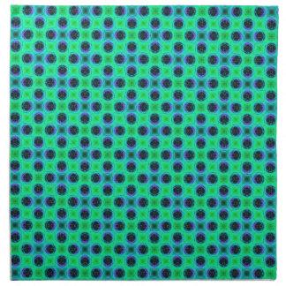 Servilleta De Tela Extracto geométrico azul púrpura verde
