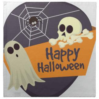 Servilleta De Tela Fantasmas y bandera pirata del feliz Halloween