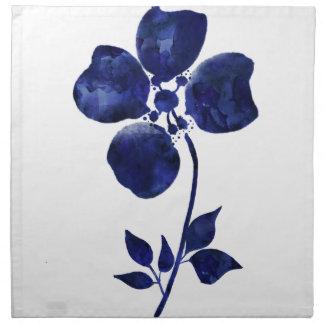 Servilleta De Tela Flor azul
