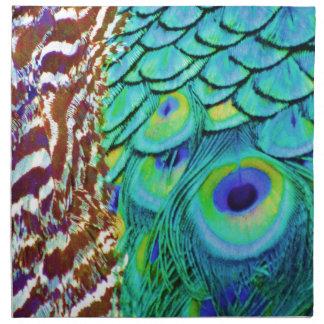 Servilleta De Tela Flujo pacífico del Peafowl