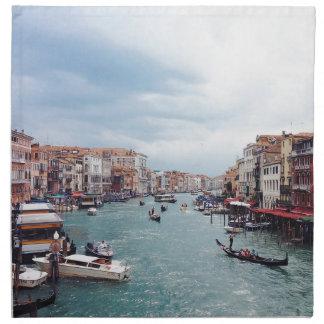 Servilleta De Tela Foto del canal de Italia Venecia del vintage