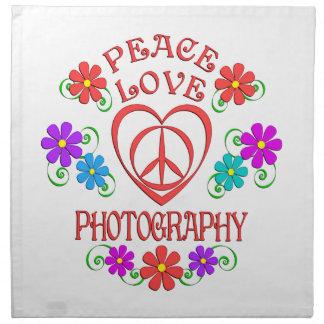 Servilleta De Tela Fotografía del amor de la paz
