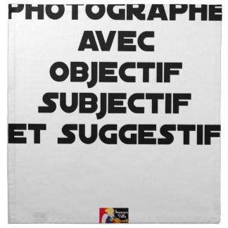 Servilleta De Tela Fotógrafo con objetivo subjetivo y sugestivo