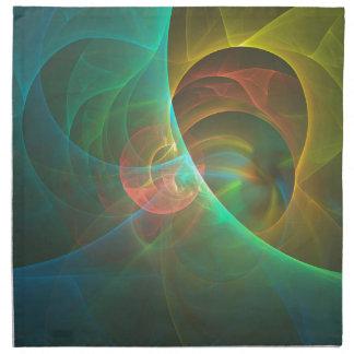 Servilleta De Tela Fractal abstracto multicolor