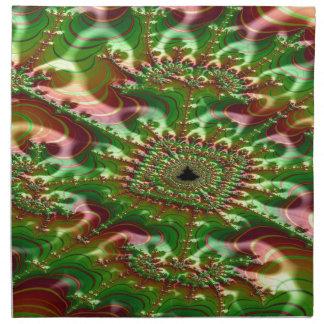 Servilleta De Tela fractal aturdido de la madeja