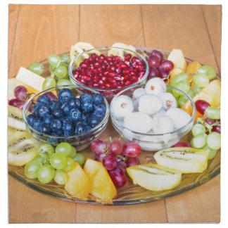 Servilleta De Tela Fruta fresca del verano del surtido en la escala